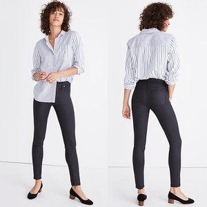 """•Madewell• High Riser Skinny Jeans Coated 9"""" Black"""